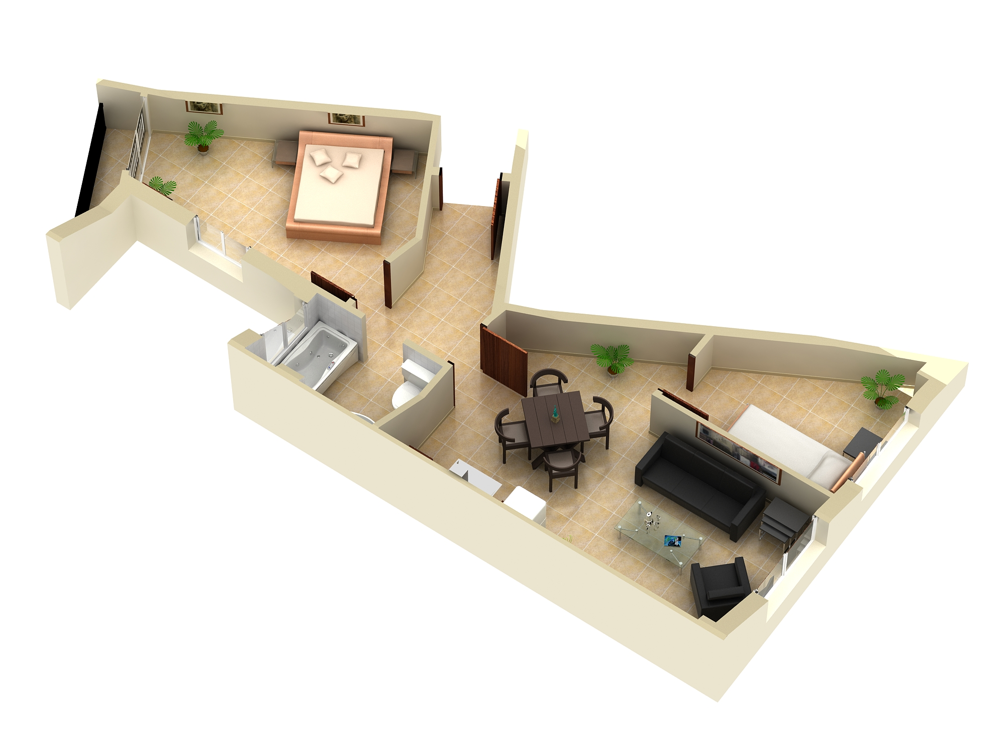 3D Floor Plan Modeling & Rendering Services