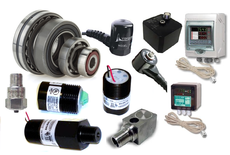 Vibration transmitters, switches, accelerometers and dual temp. & vibration controllers