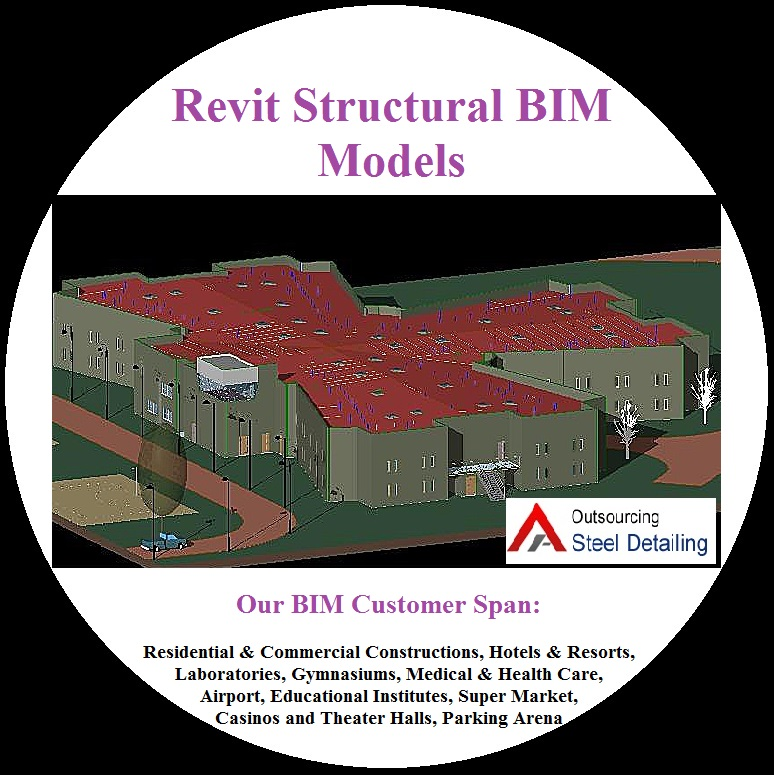 Revit Structural BIM Models Product - Outsourcing Steel Detailing