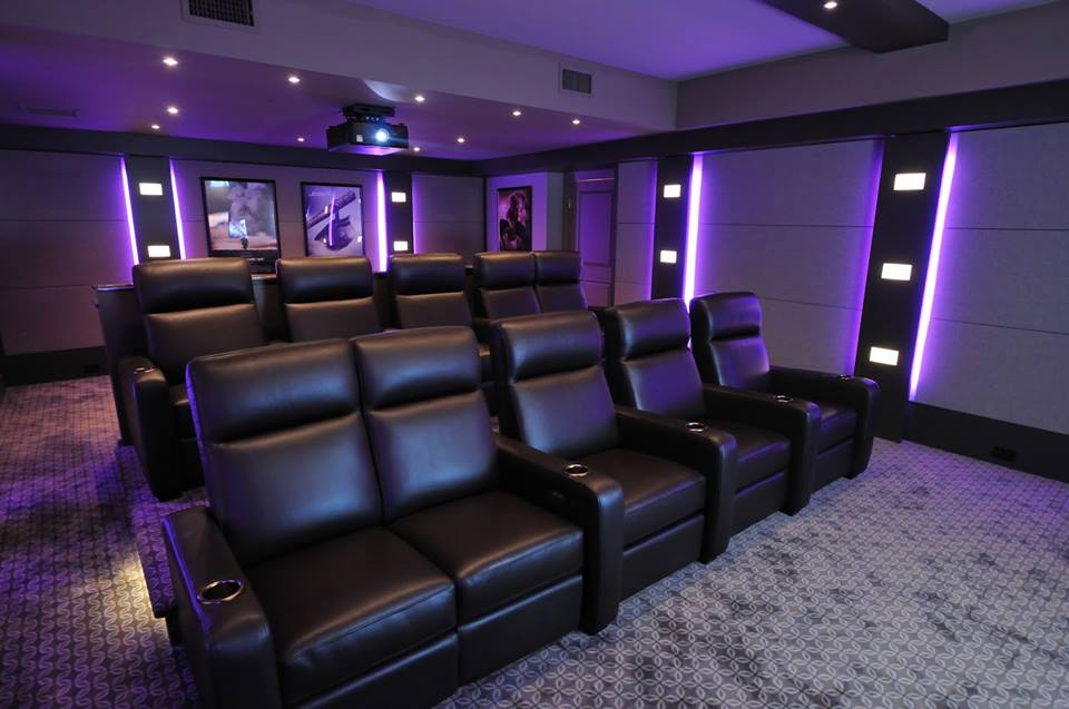Auralex theater interiors - Intra Home Systems