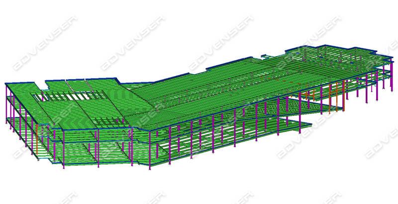 Structural 3D modeling - Steel detailing