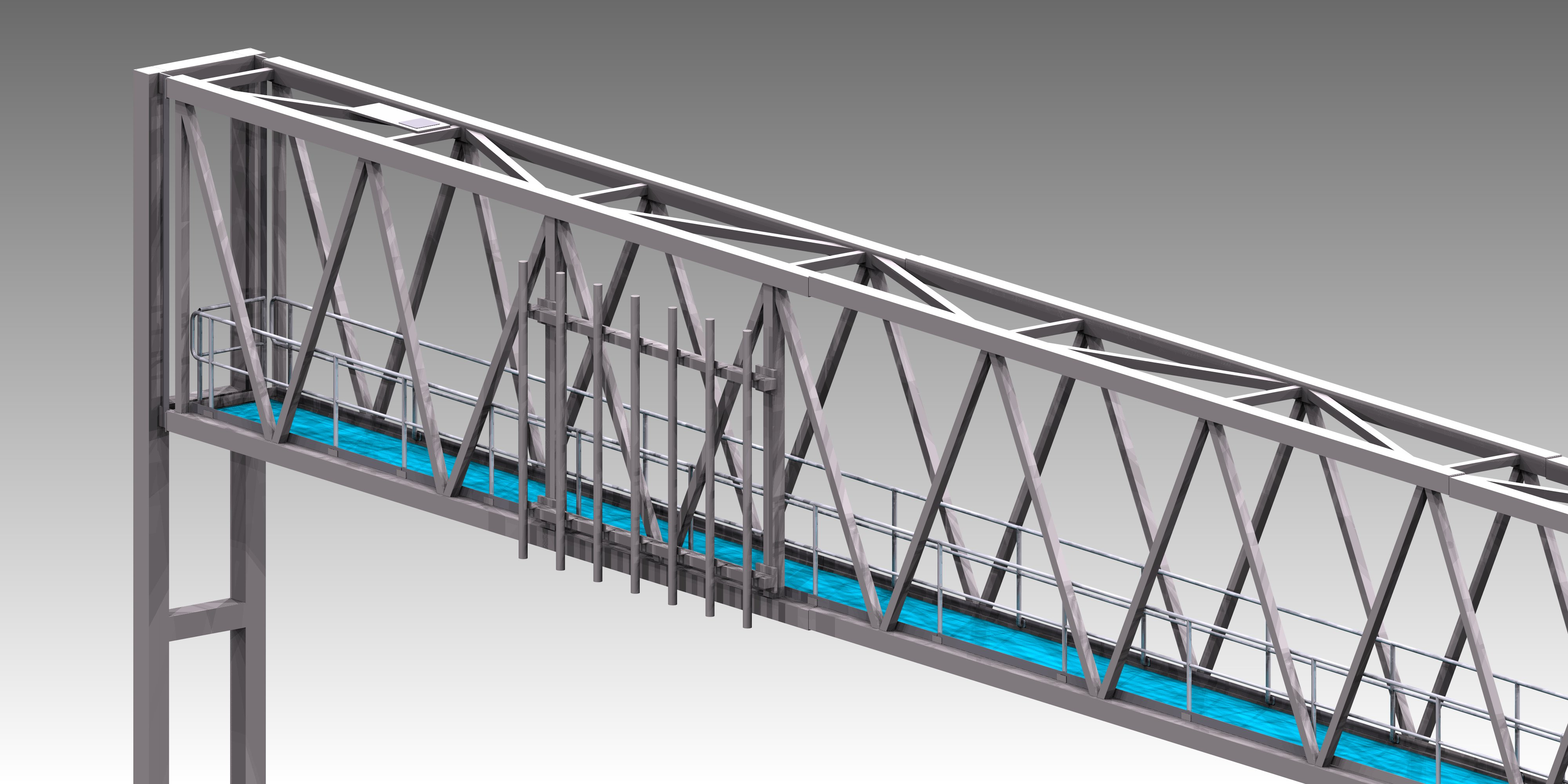 structural steel detailing Gantry