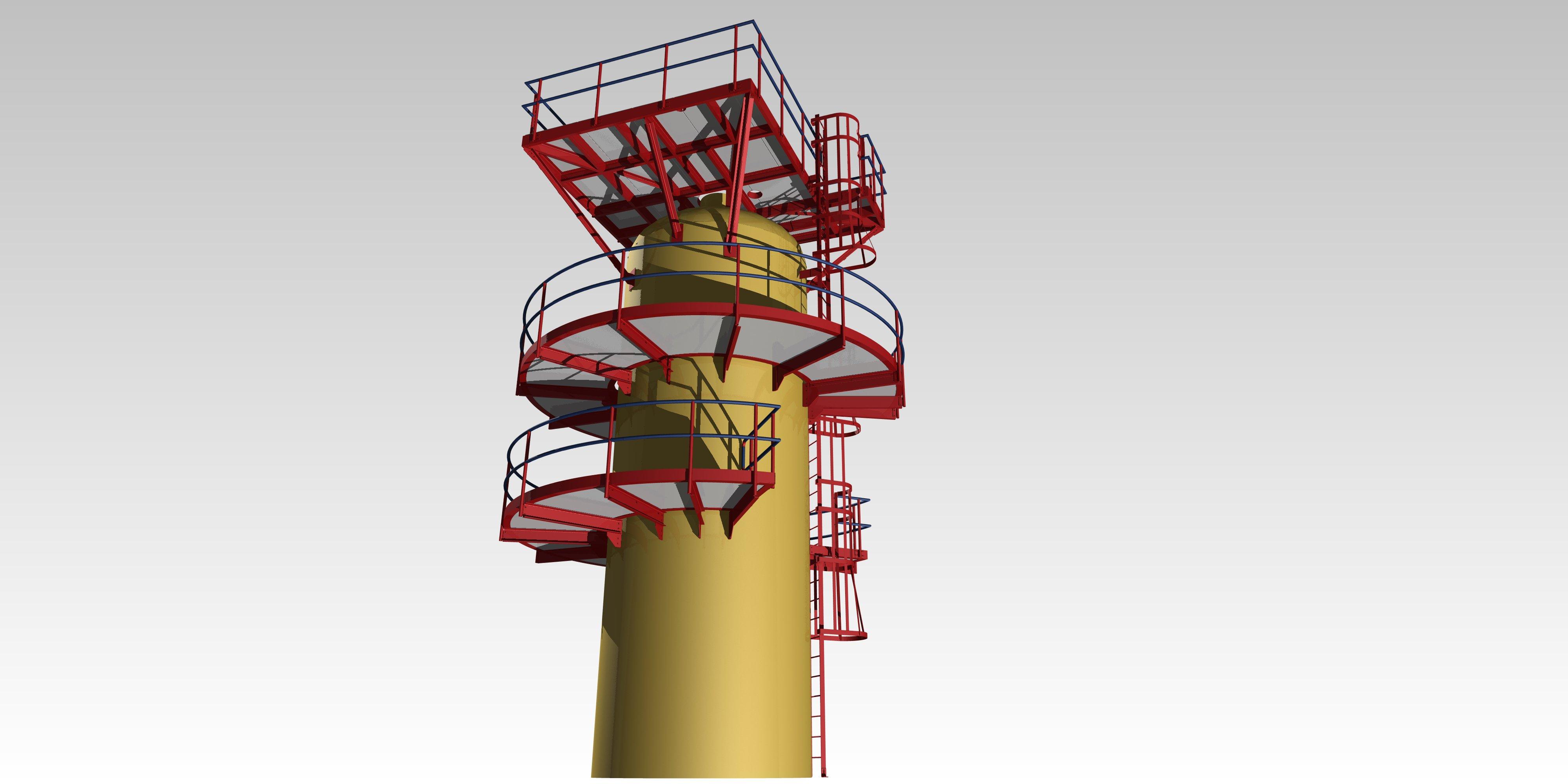 Circular platform detailing silo