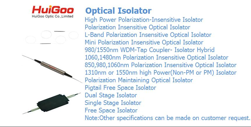Sell optical isolator/fiber optic isolators/single/dual stage isolator/high power isolator 1310nm/1550nm