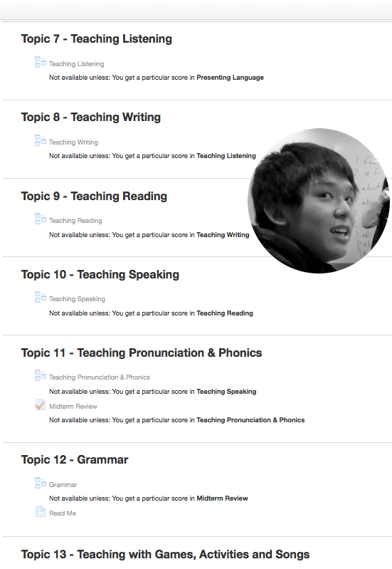 Topics 7-13 online TEFL course outline