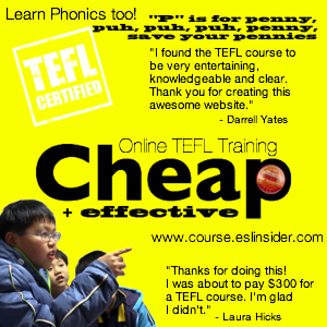 The cheapest online TEFL course