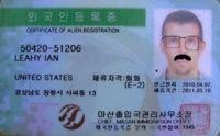 Korean Alien Resident Certificate