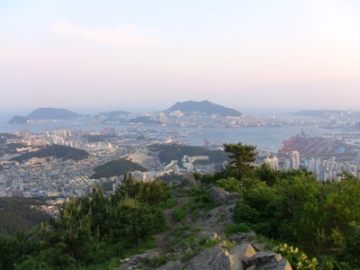 Busan port and Yeongdo island