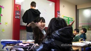 hagwon classroom in Busan, Korea