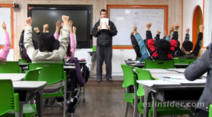Public school classroom Korea
