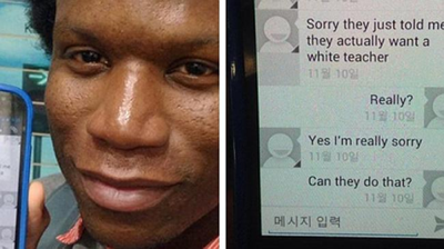 African American man faces discrimination in Korea