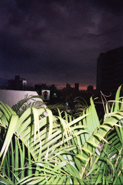 My apartment's balcony view in Tainan