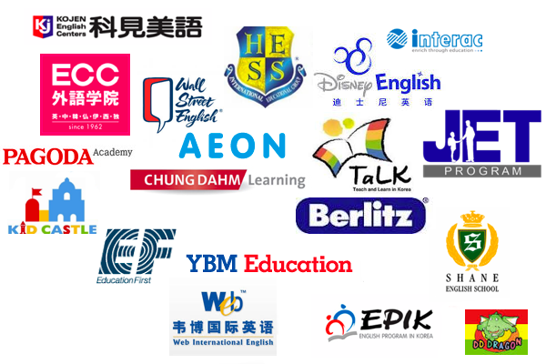 ESL schools companies and programs to teach English in Asia