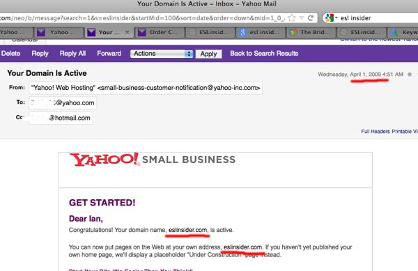 Yahoo eslinsider email