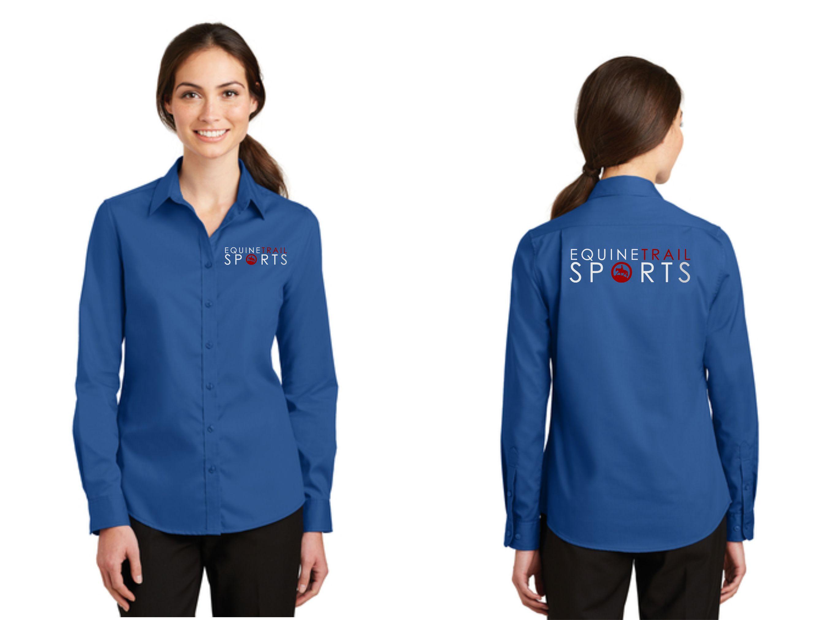 49e4416f2  42 Women s Embroidered Shirt Port Authority SuperPro Twill Shirt - L663  Royal