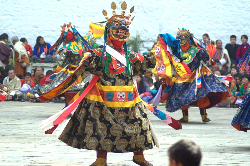 mask dances of bhutan The thimphu tshechu underwent a (mask dances performed by the dromchoe showcases the sacred dances dedicated to the chief protective deity of bhutan.