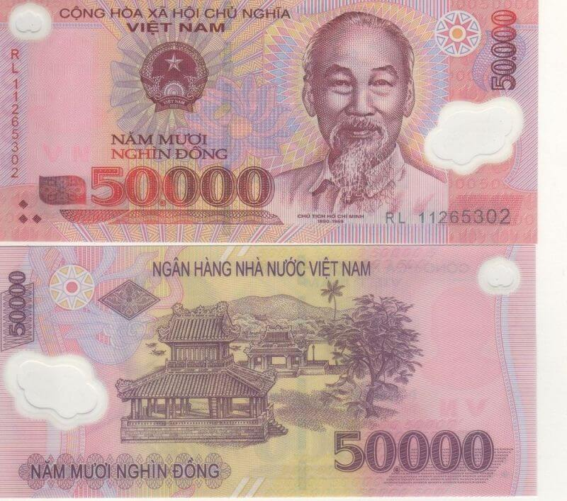 50.000 dong: Nghenh Luong Dinh and Phu Van Lau in Hue