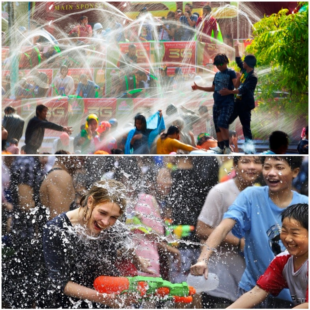 Myanmar celebrates the festival of Thingyan with plenty of water, they use faucets or bucket to toss water on passerby making a lot of laugh and fun