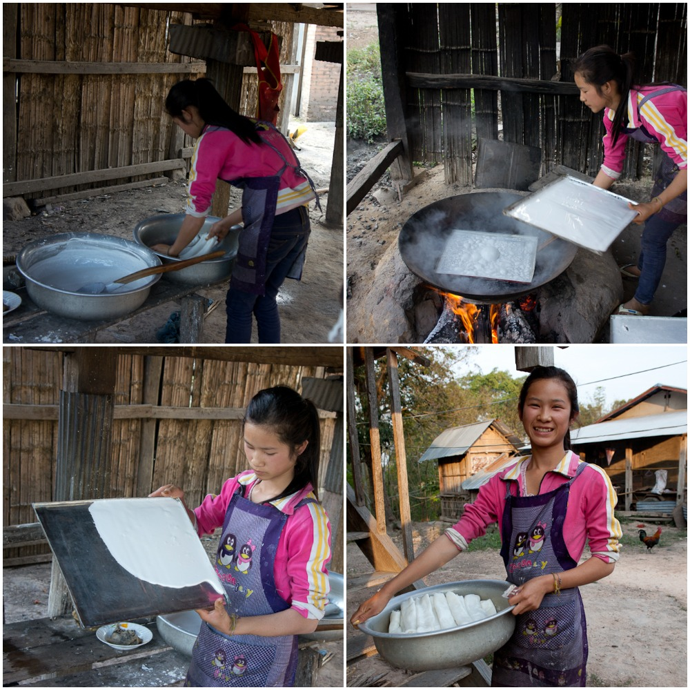 If you are interested in exploring how they make the noodle which they still cut by hand, you can visit ethnic Tai Neua village at Ban Siliheuang