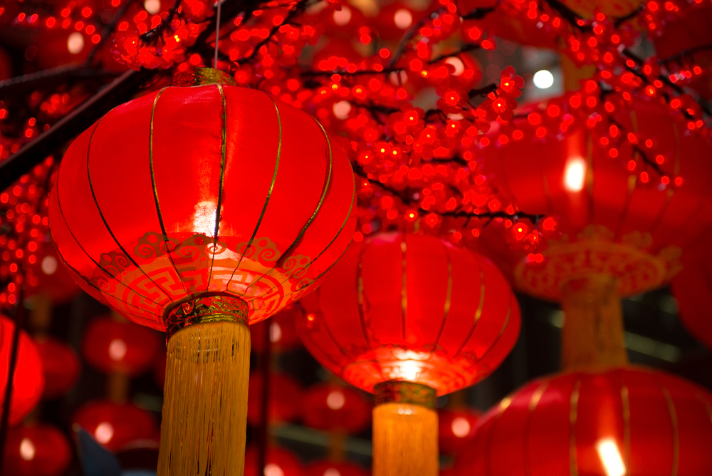 Red color are a sign of good fortune and happiness in Chinese New Year