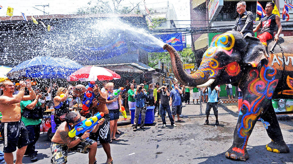 Songkran has another name is water festival, means you will get wet