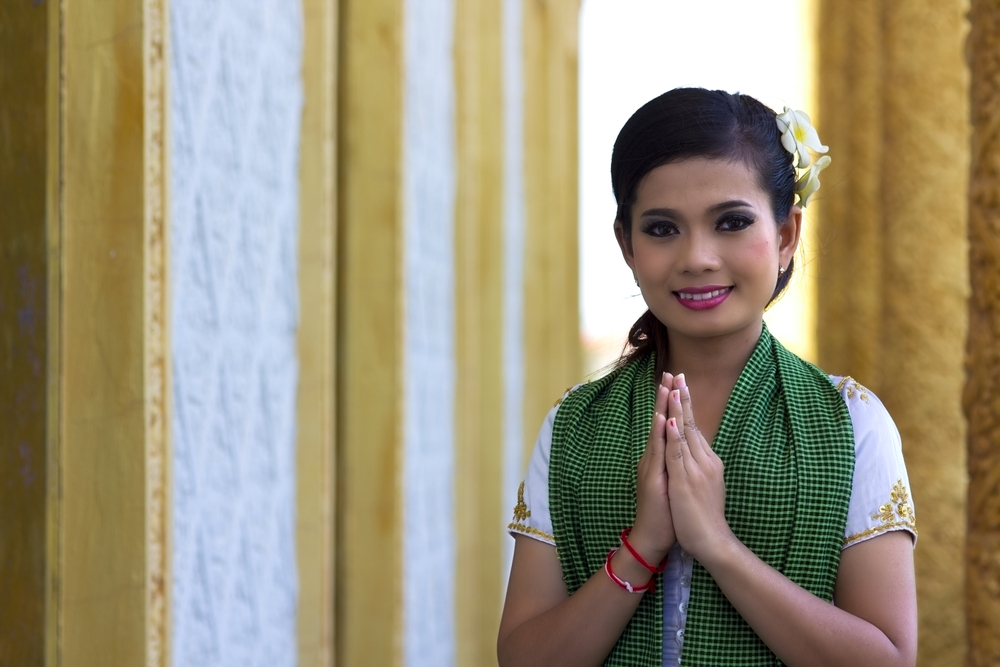 Sampeah is a traditional greeting in Cambodia