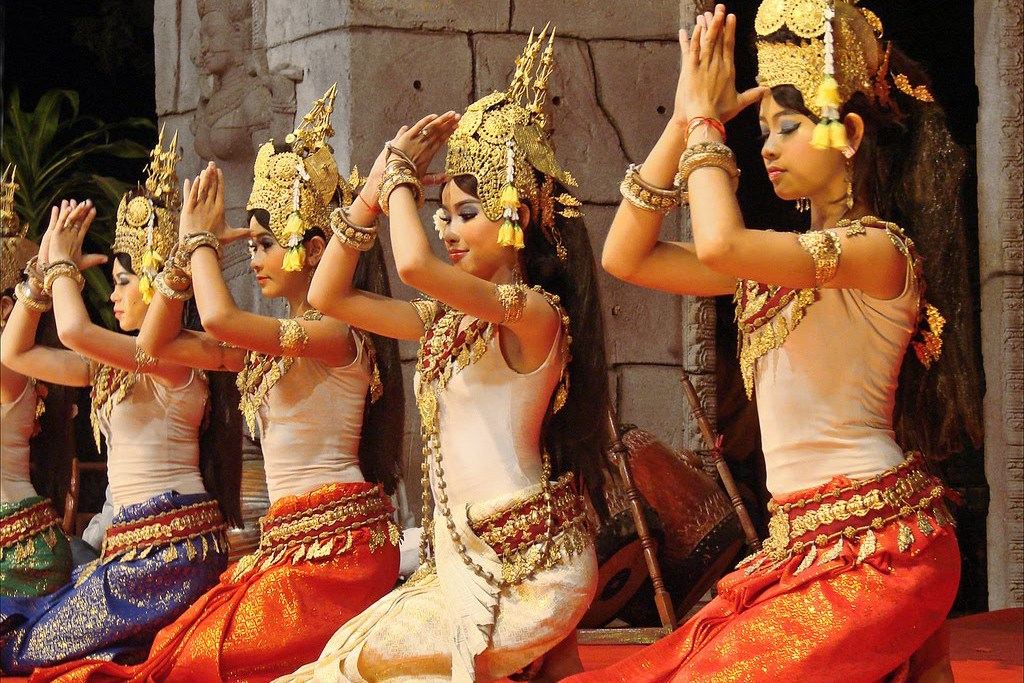 The traditional greeting in Cambodia is a bow combined with a bringing of the hands together