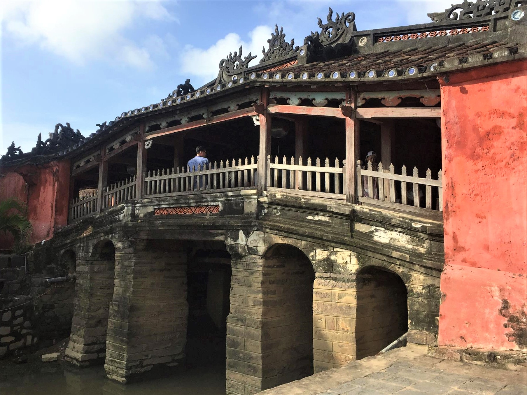They visited the Japanese Bridge - a must-see place in Hoi An