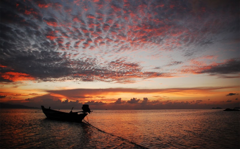 Koh Phangan sunset, one of the best sunsets in Thailand