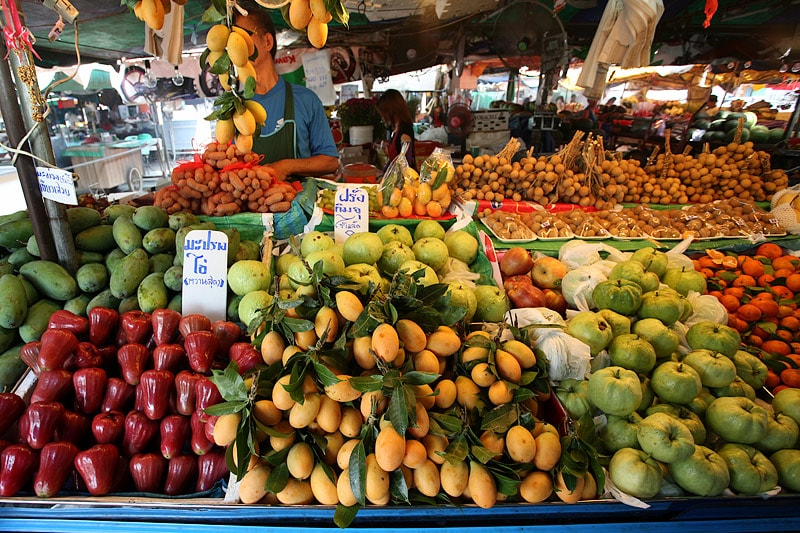 Thailand is also famous for many kinds of tropical fruit