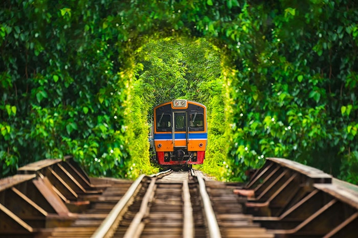 Travelling by train is convenient and popular. The trains depart from Bangkok's Hua Lamphong Stationand offers some of Thailand's beautiful sceneries