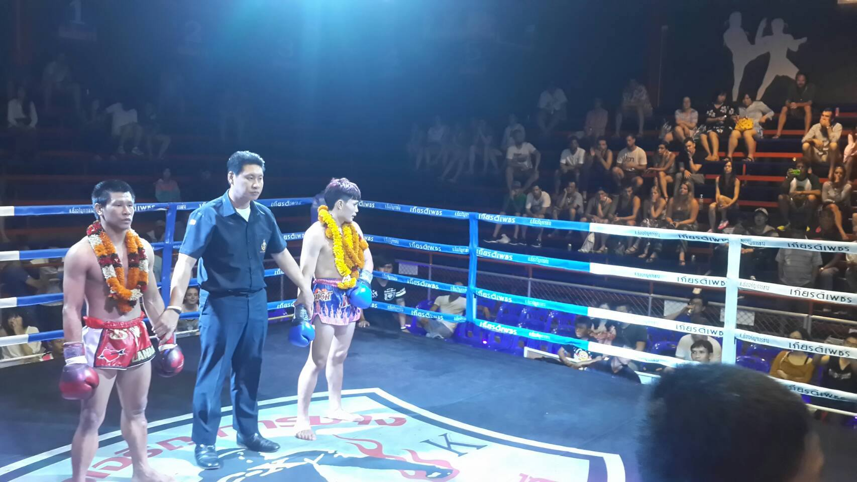 You can either watch a Thai boxing match or take one-week training course