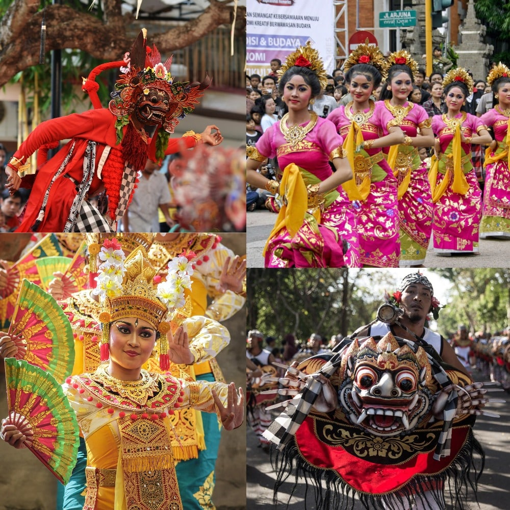Various colors and exciting activities in Bali Art Festival - which starts on the second Saturday of June and finishes in July