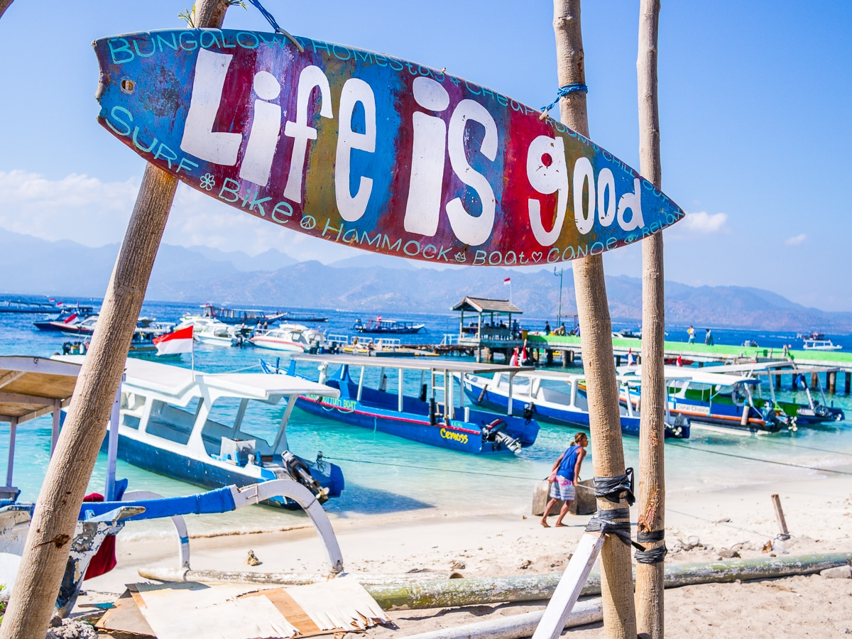 Gili T, is the largest and most visited of the Gili Islands