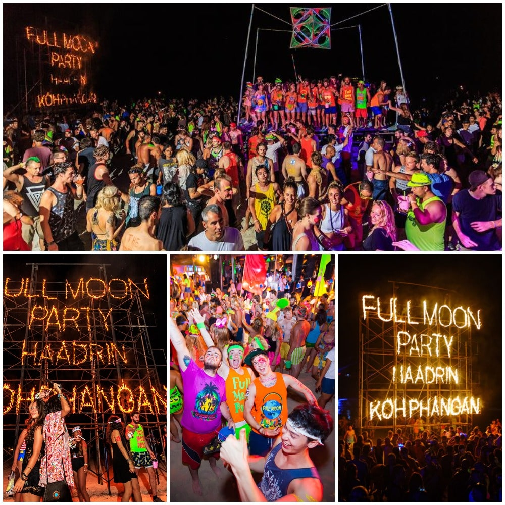Full Moon party - one the most anticipated  beach parties in the world