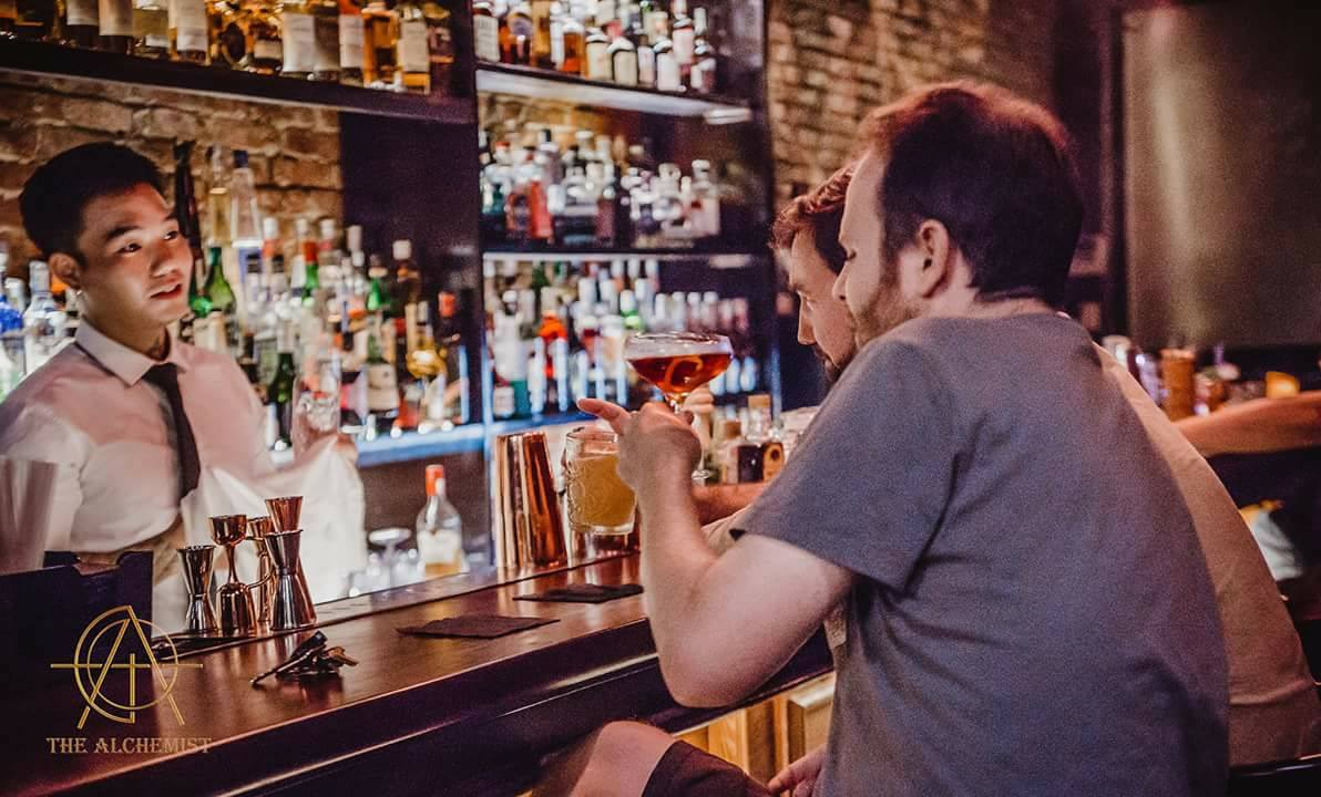 Enjoy a favorite cocktail and talk to thefriendly bartender