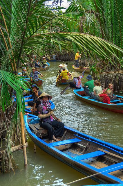 A boat cruise on the Mekong Delta