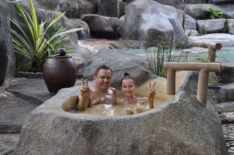 Mud bathing at I-Resort Spa