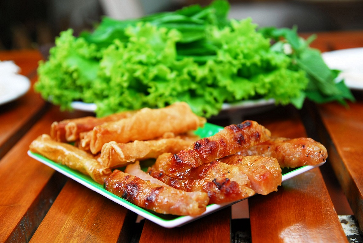 Nem Nuong (Fermented Pork Roll)
