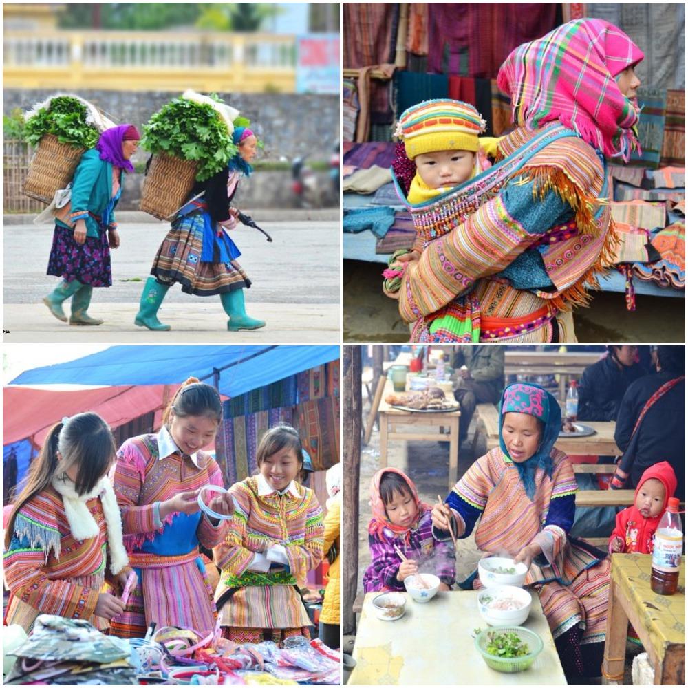 Beautiful colors in Bac Ha Market, Sapa