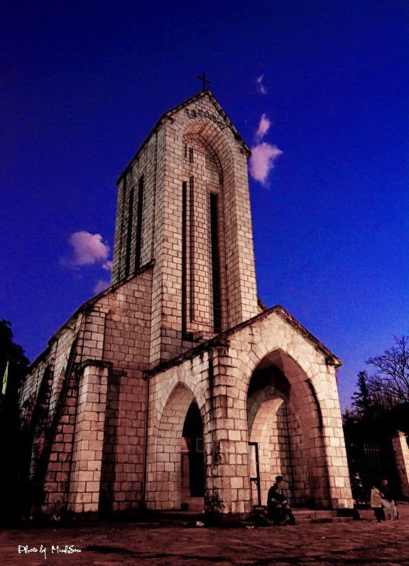 Stone Church in the dark