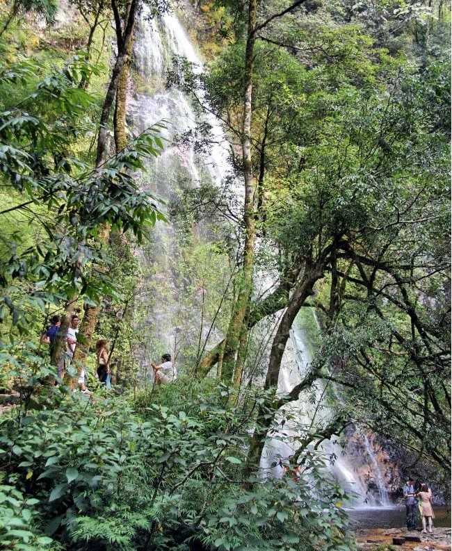 Love waterfall's name comes from a love story of a fairy with a local man