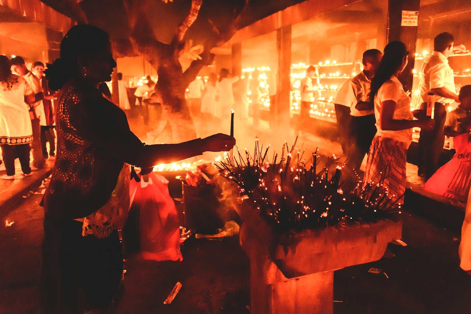 Wesak-Festival-Sri-Lanka-Woman-Praying
