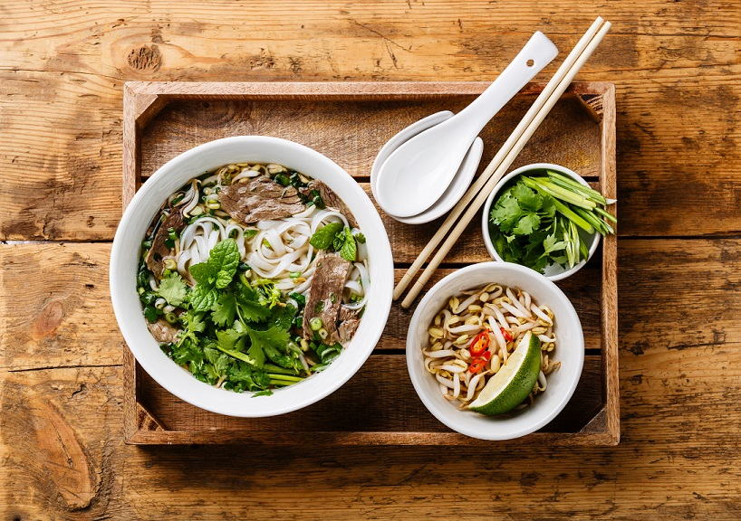 In Ho Chi Minh city, Pho is often served withbean sprouts and herbs. You won't see this in any restaurant in Hanoi