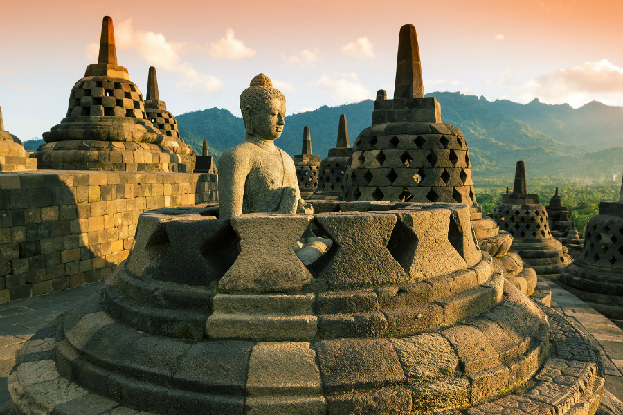 Experts suggested the Borobudur Temple Compounds were built within 8th to 9th centuries, in the Central Java, Indonesia