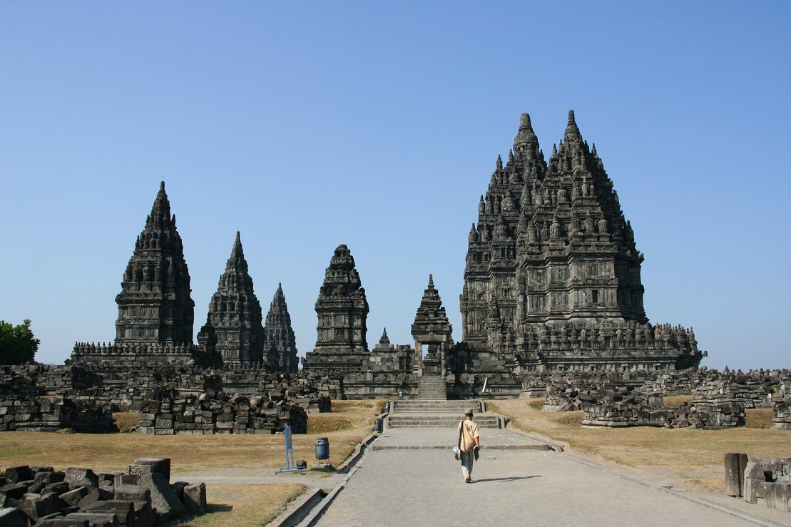Prambanan Temple Compounds were built in the 10th century to worship Shiva