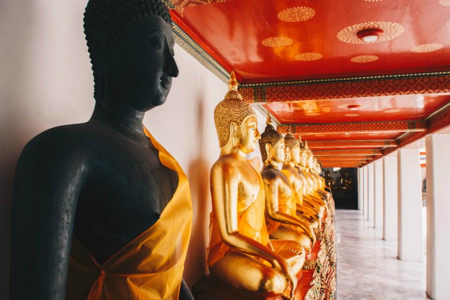 Buddha statues inside Wat Phra Kaew