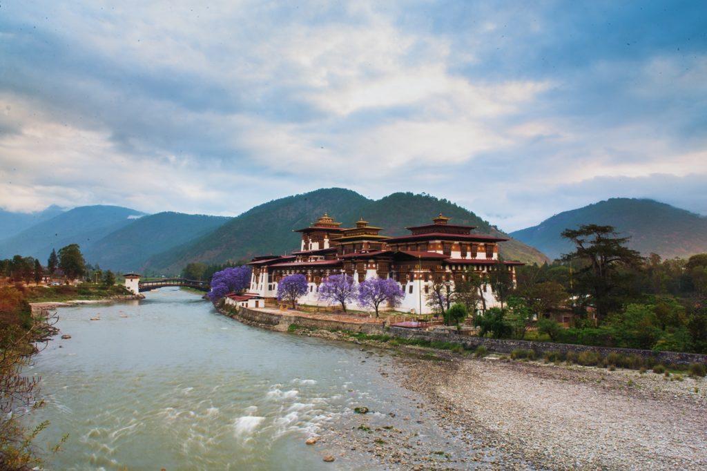 Punakha Dzong at sunrise