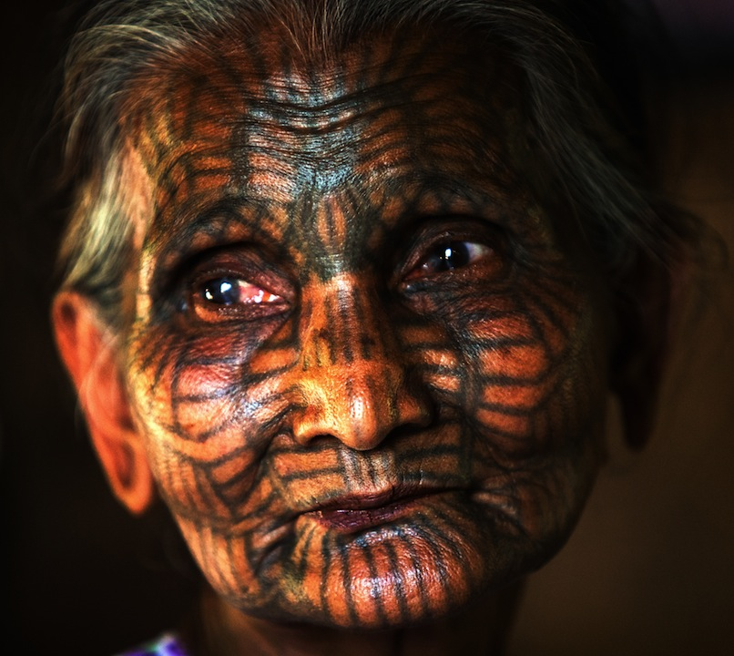 The Story Of The Face-Tattooed Women In Chin State