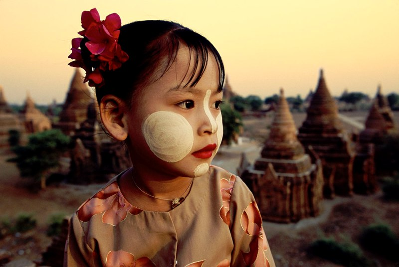 Kid in Thanakha-burmar